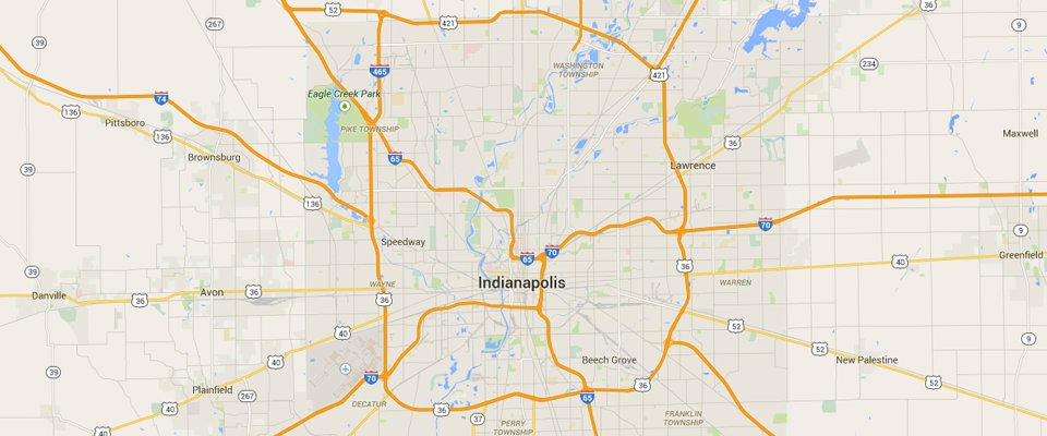 Indianapolis Dumpster Rental Service Area Map